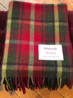 Load image into Gallery viewer, Tartan Wool Blanket in Canadian Maple. Woven in the UK. Buy Online at Red Scarf Equestrian Canada