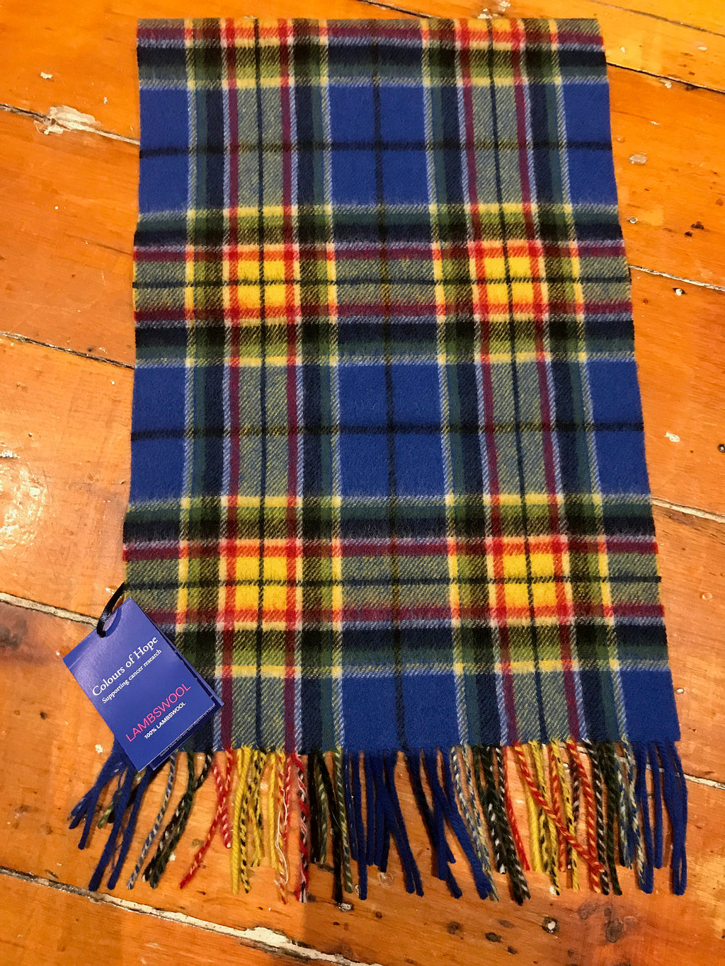 Tartan Lambswool Winter Scarf for Women Colours of Hope Cancer Buy in Canada at Red Scarf Equestrian
