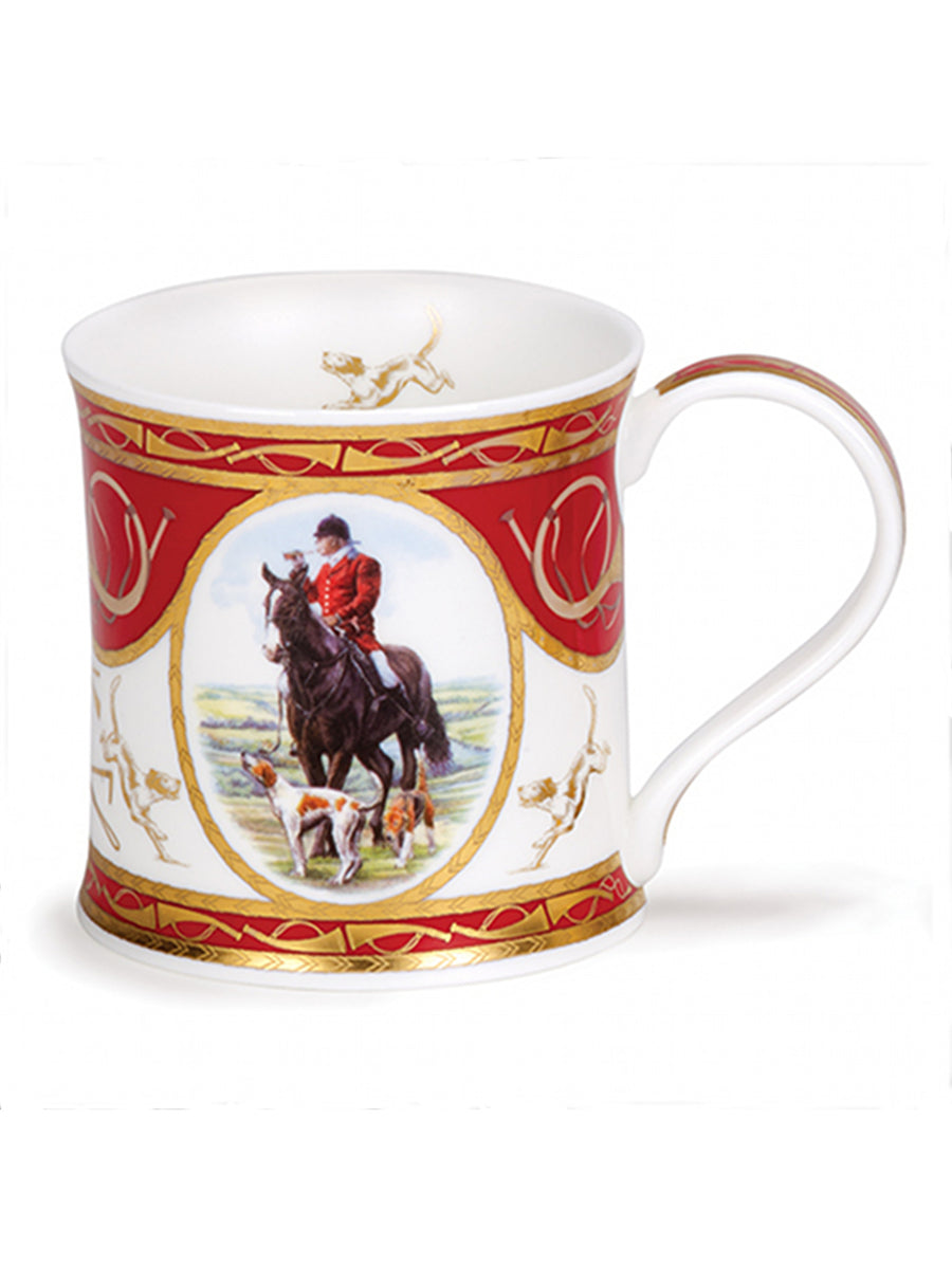 Dunoon Fine Bone China Mug:  Country Cameos Hunting