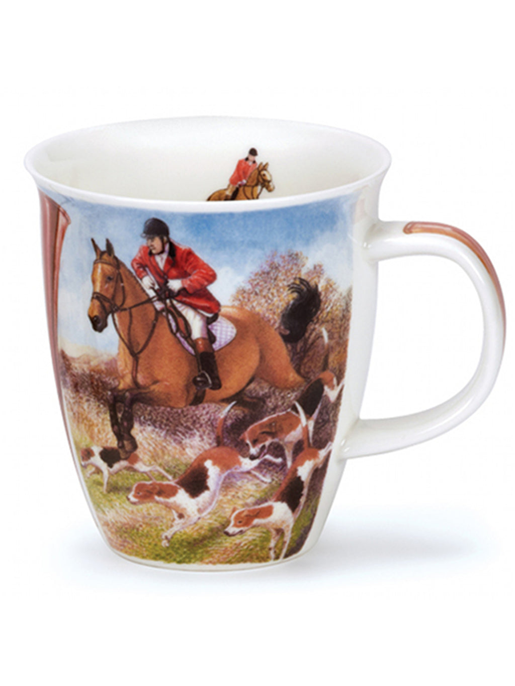 Buy Dunoon Mugs in Canada Nevis Country Sports Hunting Fine Bone China Handmade in England Tea Coffee Red Scarf Equestrian