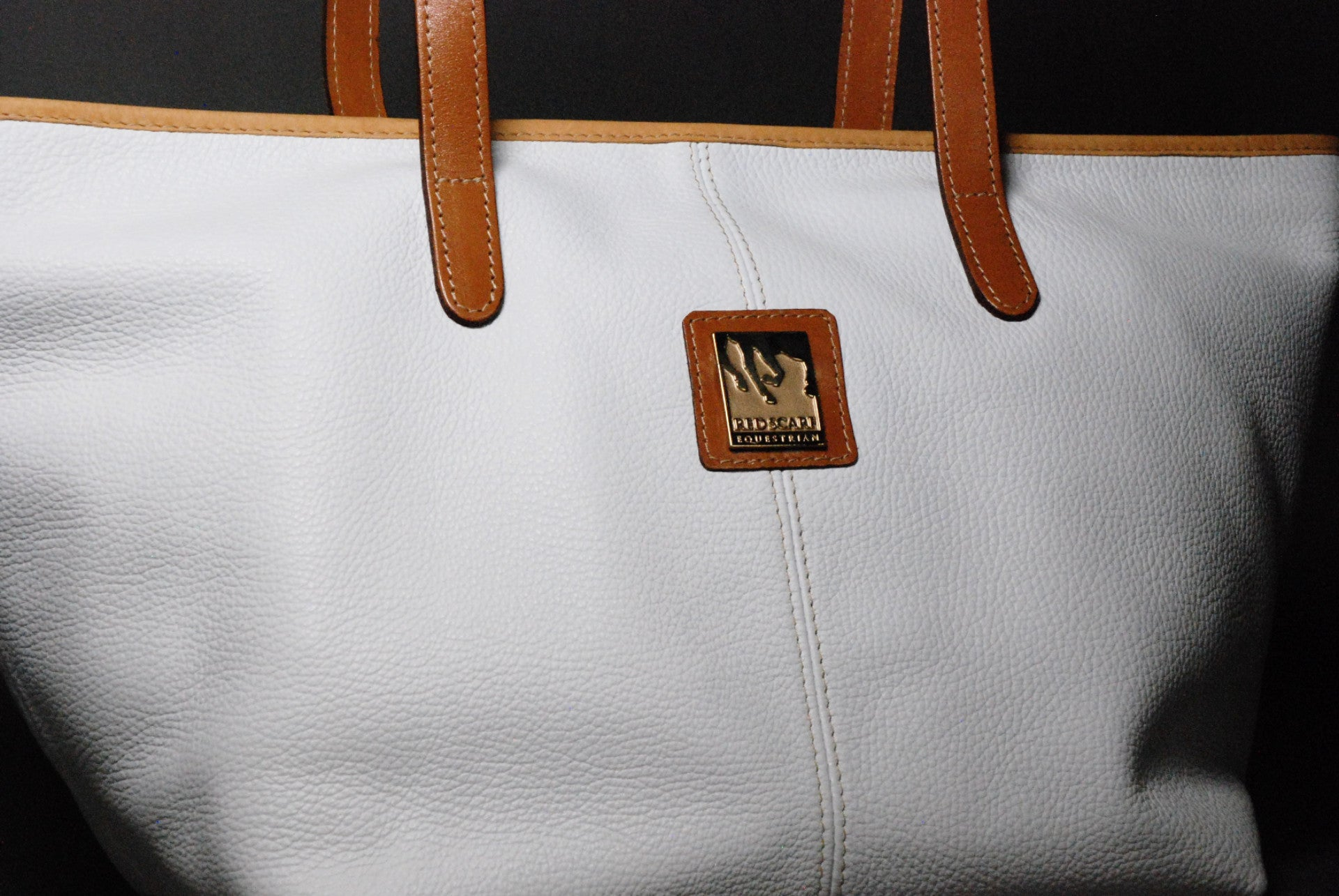 HAND BAG KATE - WHITE/TAN