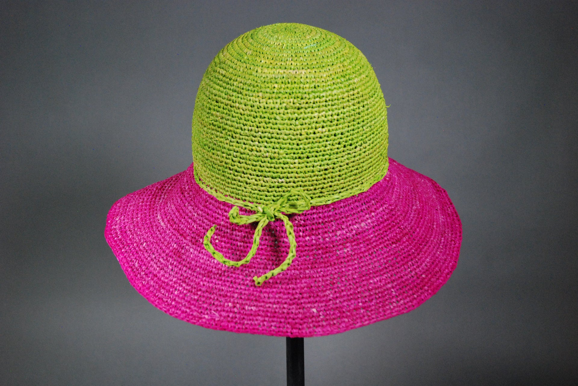 Raffia Hats: Two Toned Floppy Hats