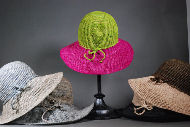 Raffia Two Toned Hat