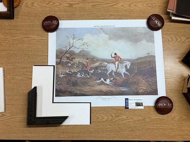 Fine Art English Hunt Scene Print Home Decor Buy Online Red Scarf Equestrian Canada