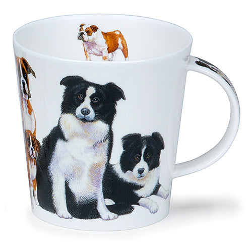 Buy Dunoon Mugs in Canada Cairngorm Dogs & Puppies Collie Fine Bone China Made in England Tea Coffee Red Scarf Equestrian