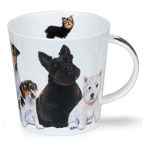 Buy Dunoon Mugs in Canada Cairngorm Dogs & Puppies Scotty Fine Bone China Made in England Tea Coffee Red Scarf Equestrian
