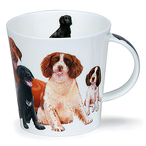 Buy Dunoon Mugs in Canada Cairngorm Dogs & Puppies Spaniel Fine Bone China Made in England Tea Coffee Red Scarf Equestrian