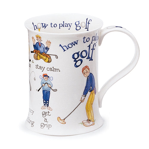 Buy Dunoon Mugs in Canada Cotswold How to Play Golf Fine Bone China Tea Coffee Red Scarf Equestrian