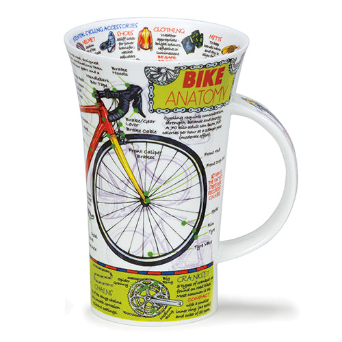 Buy Dunoon Mugs in Canada Glencoe Bike Anatomy Fine Bone China Made in England Tea Coffee Red Scarf Equestrian