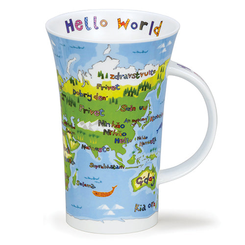Buy Dunoon Mugs in Canada Glencoe Hello World Fine Bone China Made in England Coffee Tea Red Scarf Equestrian