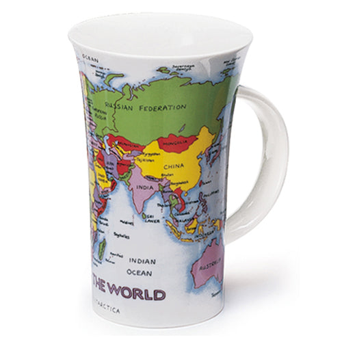 Buy Dunoon Mugs in Canada Glencoe Map of the World Fine Bone China Made in England Tea Coffee Red Scarf Equestrian