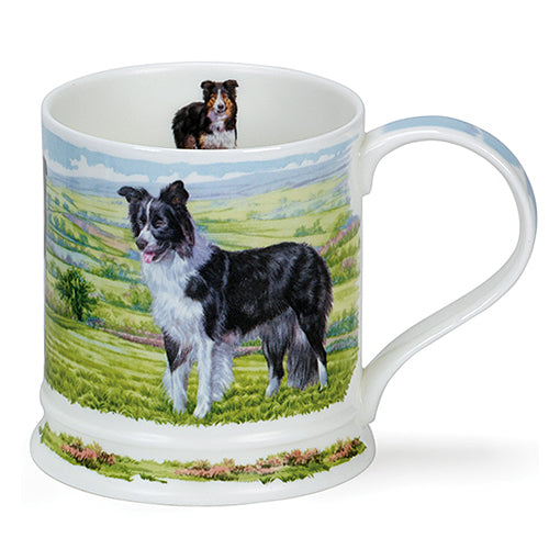 Dunoon Mugs in Canada - Iona Country Dogs Collies Red Scarf Equestrian