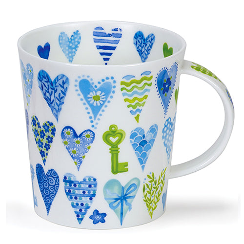 Buy Dunoon Mugs Canada: Lomond Blue Hearts - Red Scarf Equestrian