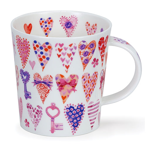 Buy Dunoon Mugs in Canada: Lomond Pink Hearts - Red Scarf Equestrian