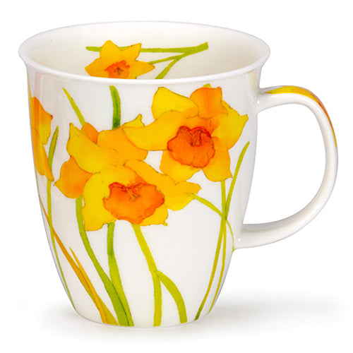 Buy Dunoon Mugs in Canada Nevis Flora Daffodil Fine Bone China Coffee Tea Mug Red Scarf Equestrian