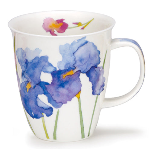 Buy Dunoon Mugs in Canada Nevis Flora Iris Fine Bone China Made in England Red Scarf Equestrian