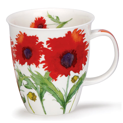 Buy Dunoon Mugs Canada Nevis Flora Poppy Fine Bone China Made in England Coffee Tea Red Scarf Equestrian