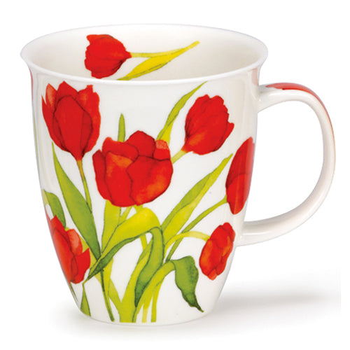 Buy Dunoon Mugs in Canada Nevis Flora Tulip Fine Bone China Made in England Tea Coffee Red Scarf Equestrian