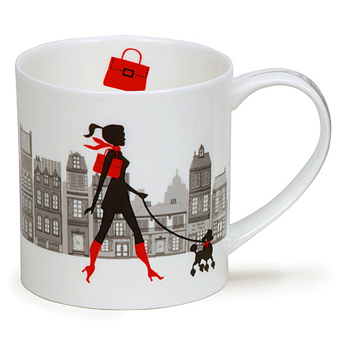 Buy Dunoon Mugs in Canada Orkney City Chic Shoulder Bag Fine Bone China Made in England Tea Coffee Red Scarf Equestrian