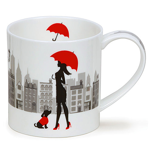 Buy Dunoon Mugs in Canada Orkney City Chic Umbrella Fine Bone China Made in England Tea Coffee Red Scarf Equestrian