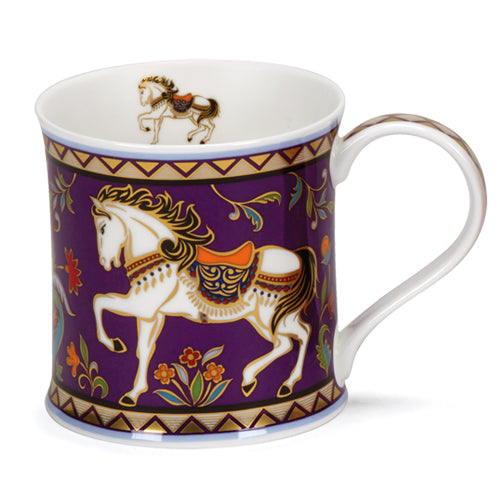 Buy Dunoon Mugs in Canada Wessex Minerva Horse Fine Bone China Red Scarf Equestrian