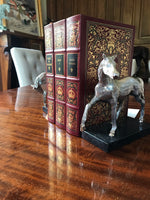 Load image into Gallery viewer, Cast Aluminum Horse Statues Book Ends