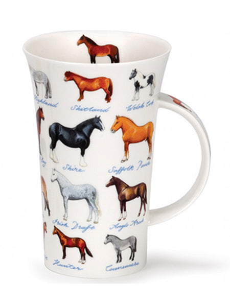 Dunoon Fine Bone China Mug:  Horses