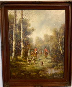 "Antique Painting - ""The Hunt"" by Jermùsn  D"