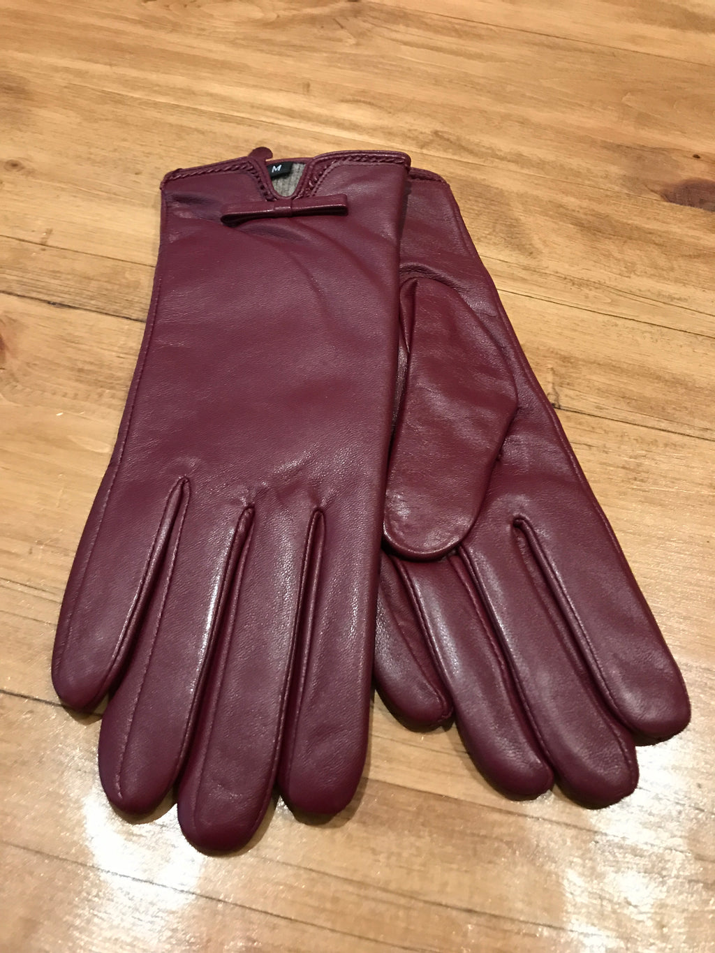 Gloves - Deep Burgundy Leather
