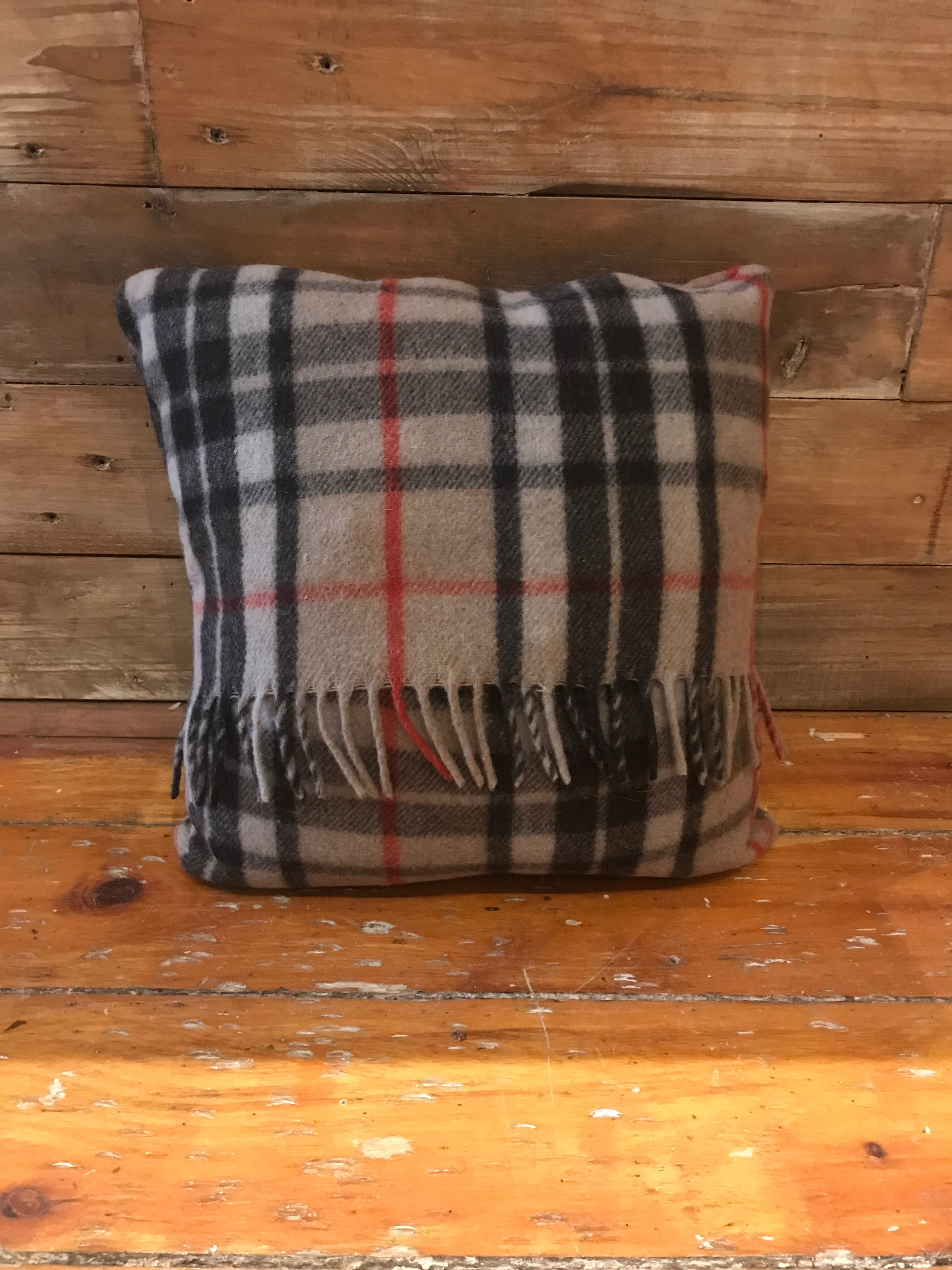 Scottish Tartan Wool Pillows in Thomson Camel for your home interior design and decor. Buy online at Red Scarf Equestrian Canada