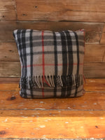 Load image into Gallery viewer, Scottish Tartan Wool Pillows in Thomson Camel for your home interior design and decor. Buy online at Red Scarf Equestrian Canada