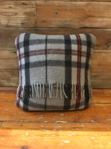 Scottish Tartan Wool Pillows in Thomson Grey for your home interior design and decor. Buy online at Red Scarf Equestrian Canada