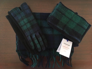 Tartan Lambswool Scarf, Glove and Boot Cuff Set - Black Watch