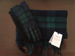 Tartan Lambswool Scarf and Glove Set - Black Watch