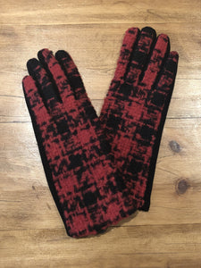 Red Checked Gloves