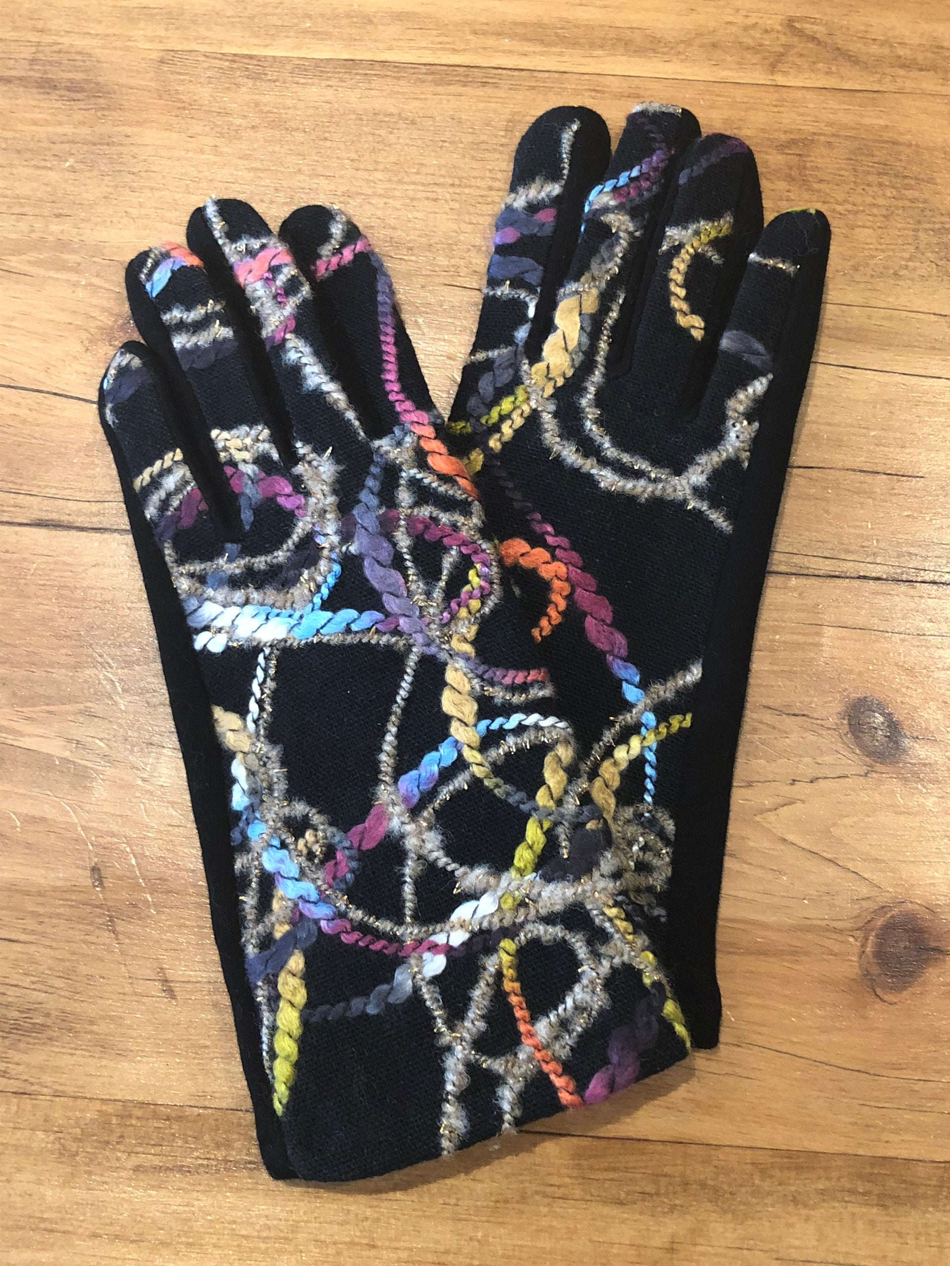 Multi-Colour Rope Gloves