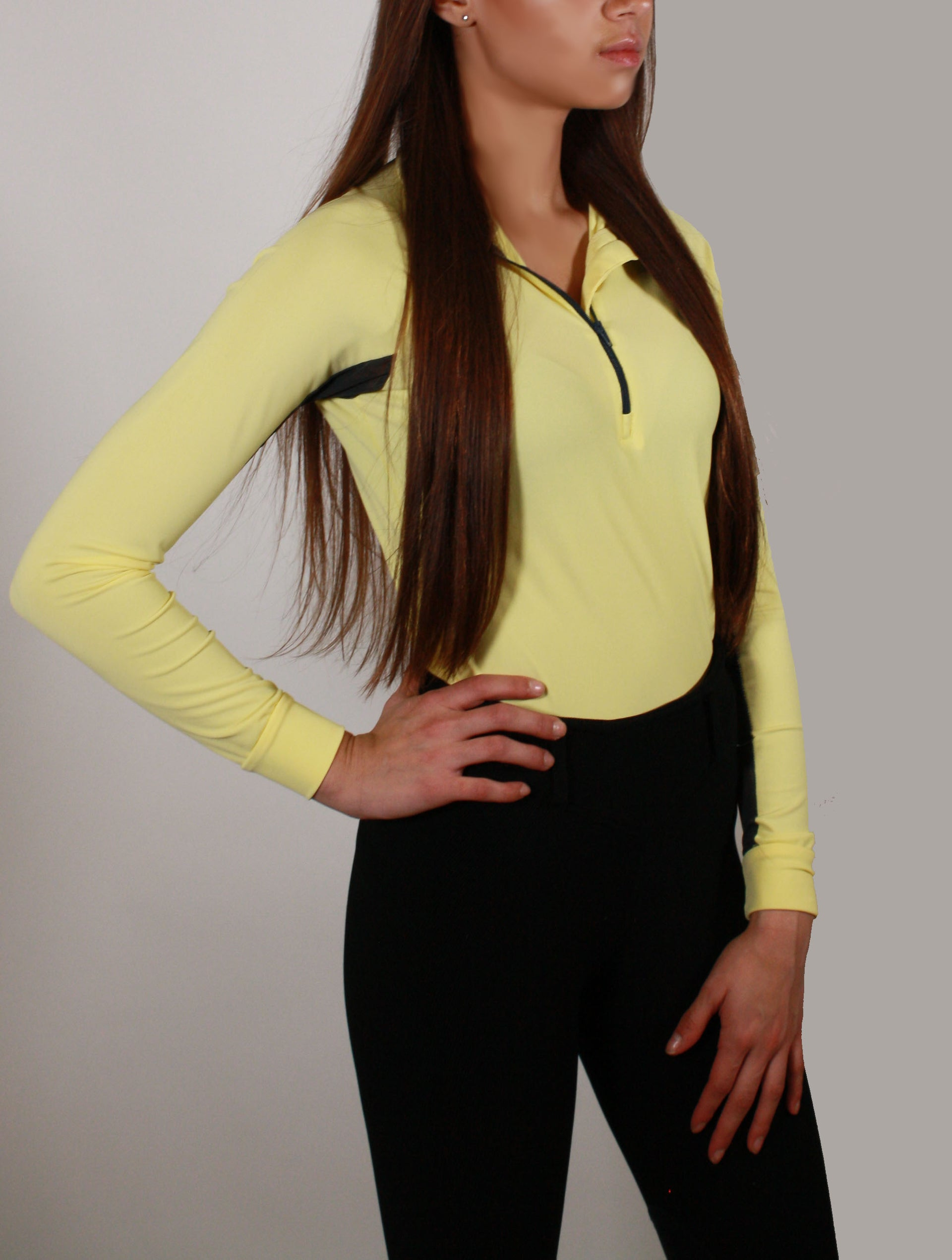Technical Base Layer: Pastel Yellow/Charcoal