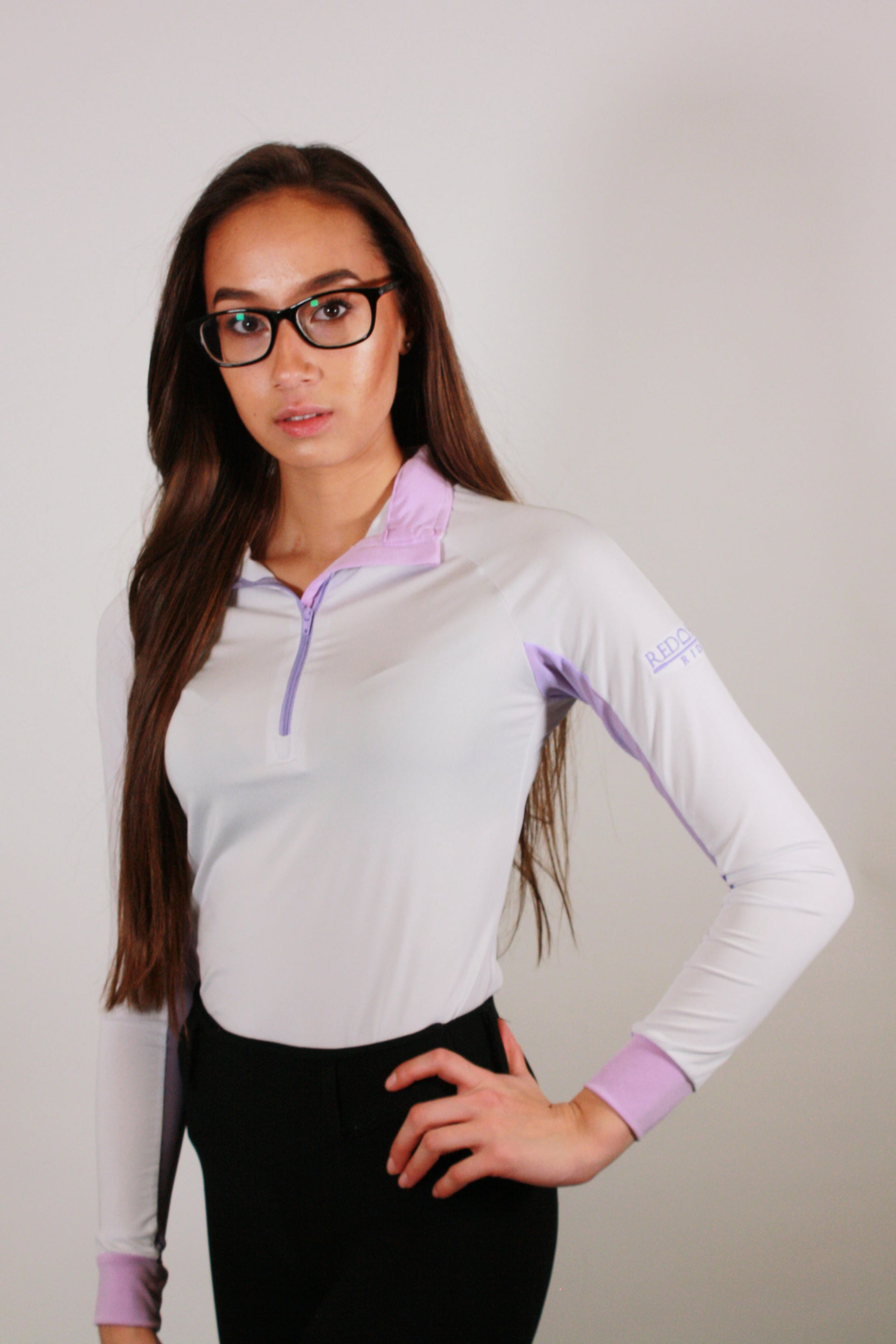 Technical Base Layer: White/Lilac