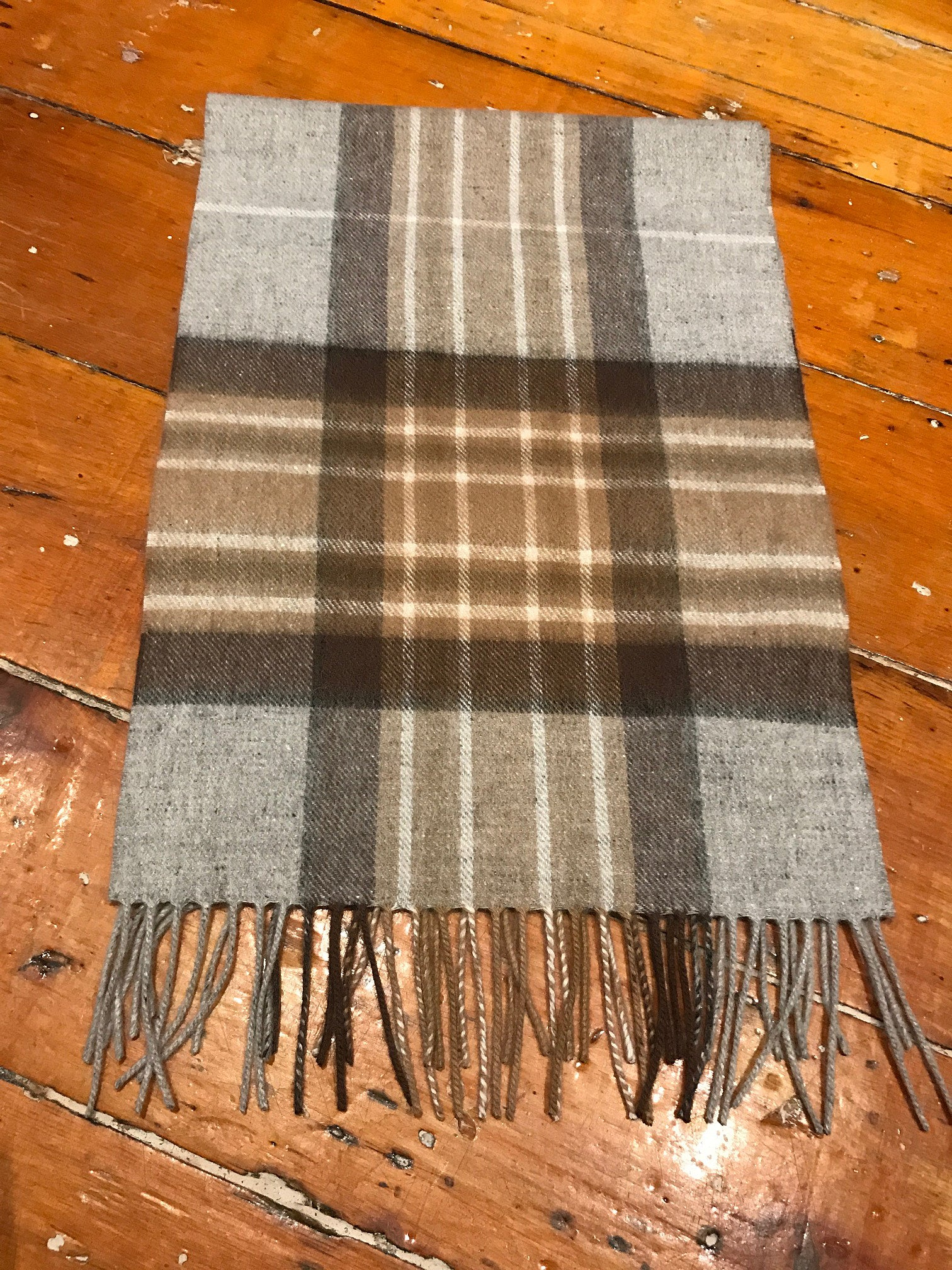 Tartan Lambswool Winter Scarf for Women Natural Mackellar Buy in Canada at Red Scarf Equestrian