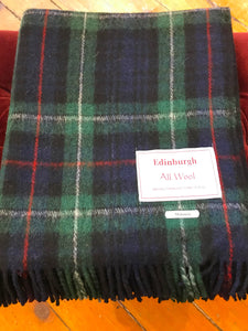 Tartan Wool Blanket in Mckenzie. Woven in the UK. Buy online at Red Scarf Equestrian Canada.