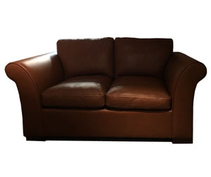 The Oldenburg: Leather Loveseat