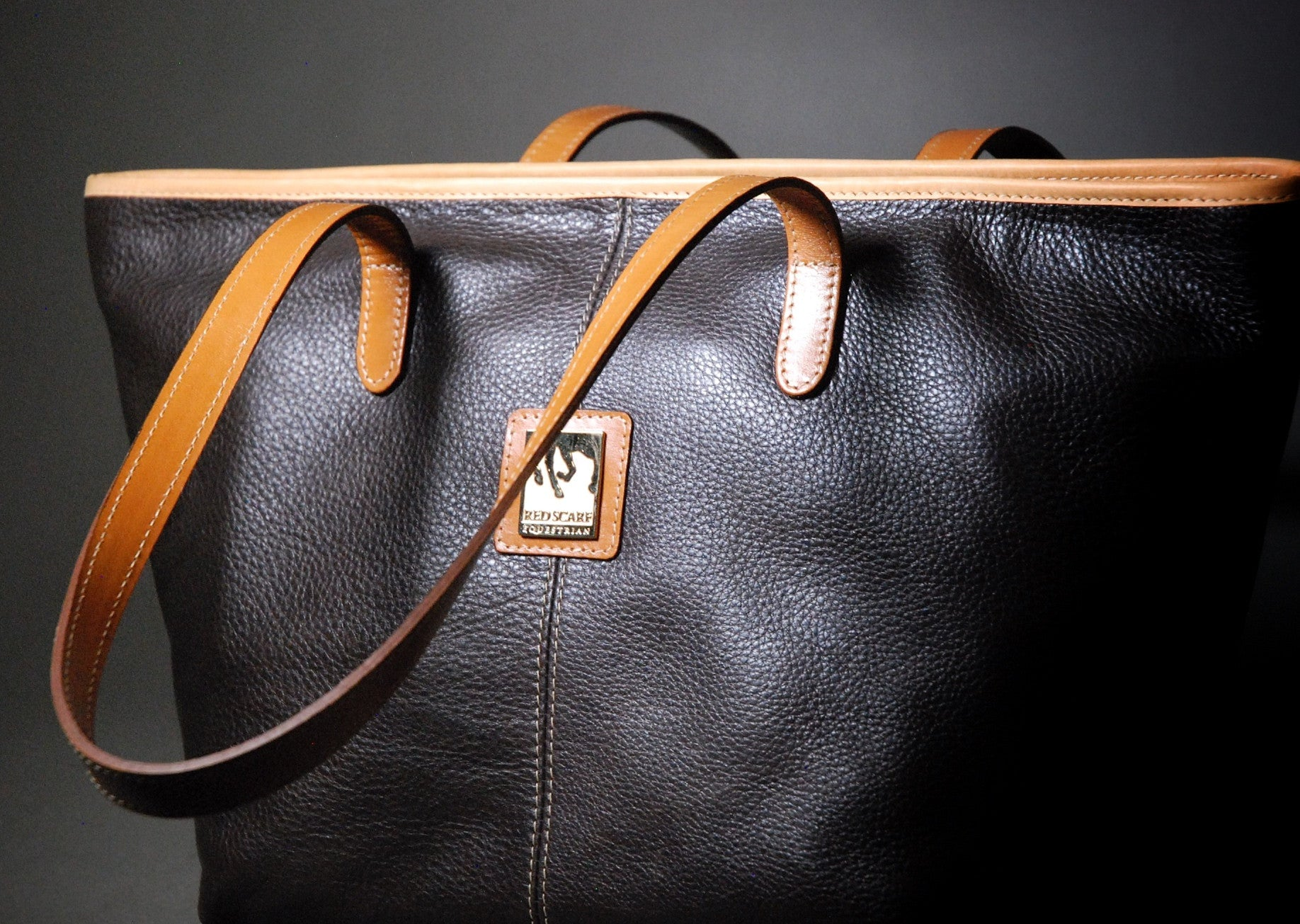 HAND BAG KATE - CHOCOLATE BROWN/TAN
