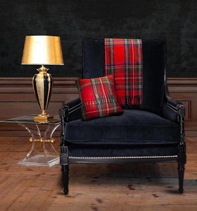 Tartan Wool Blanket in Royal Stewart. Woven in the UK. Buy Online at Red Scarf Equestrian Canada