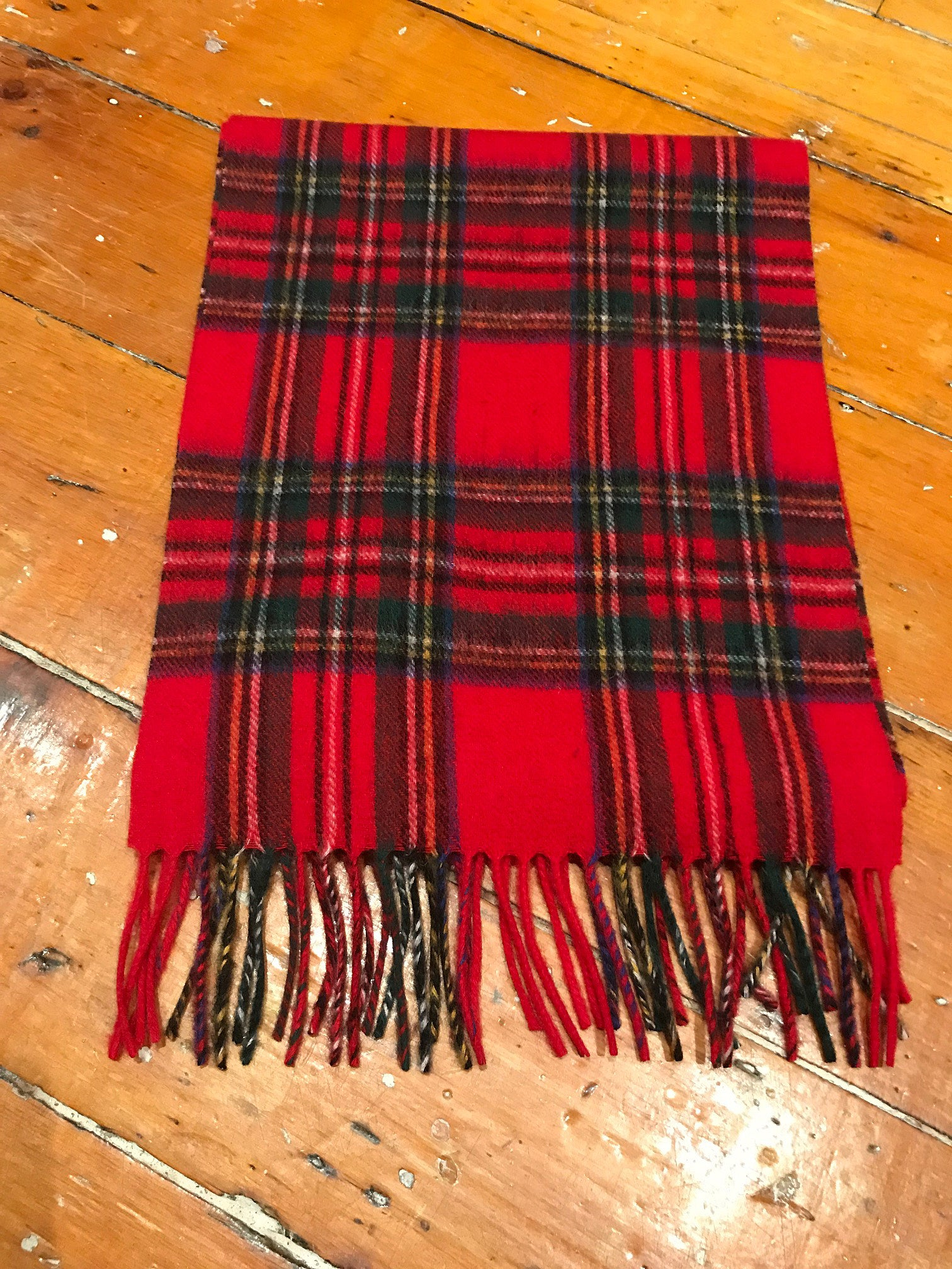 Tartan Lambswool Winter Scarf for Women Royal Stewart Buy in Canada at Red Scarf Equestrian
