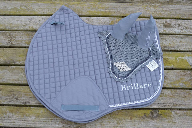 Diamante Trim Close Contact Saddlepads