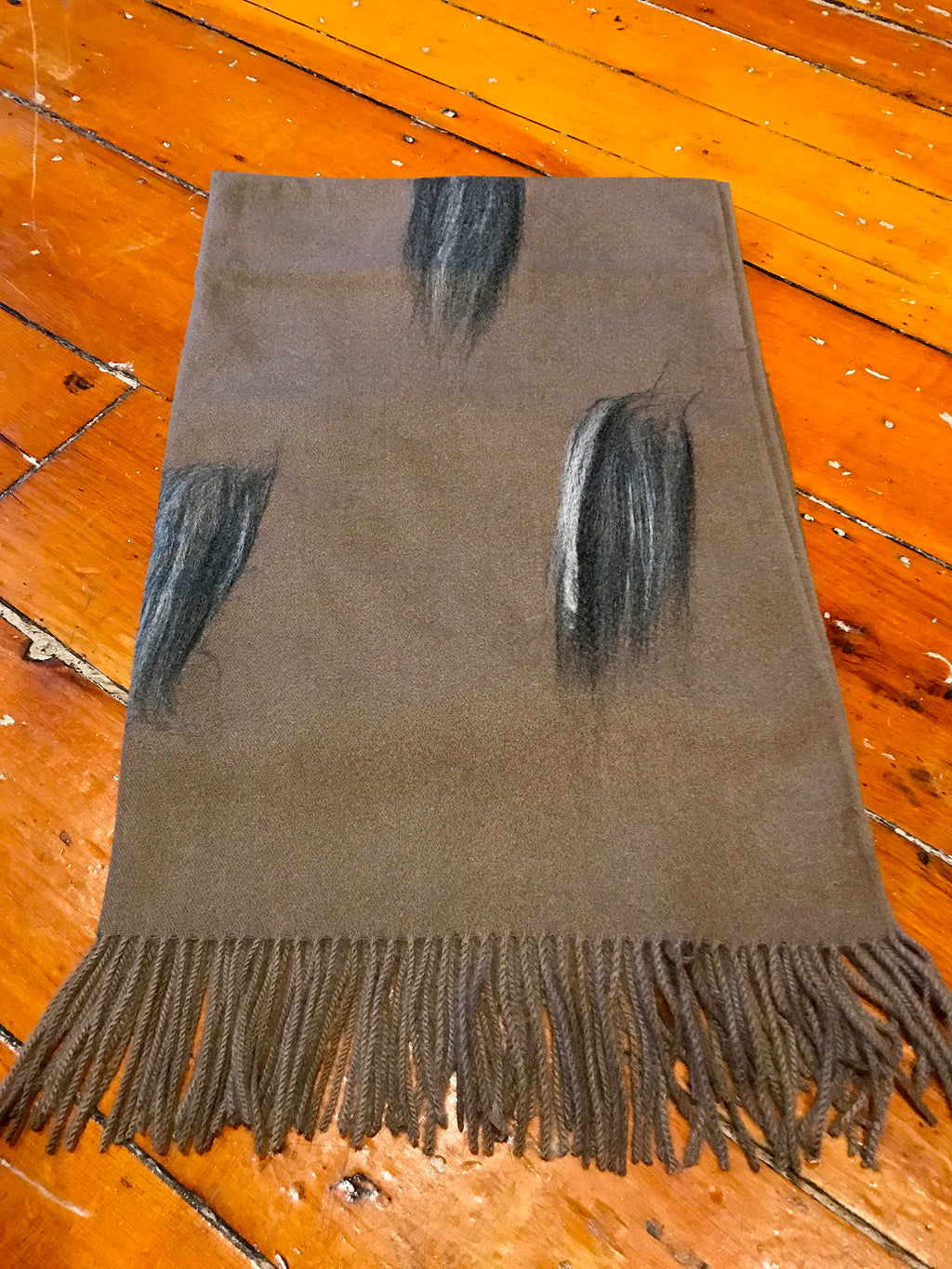 Taupe Womens Winter Scarf Feather Design Winter Fashion Buy in Canada at Red Scarf Equestrian