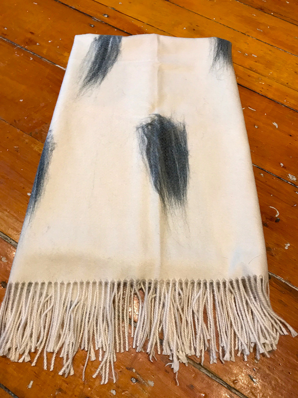 White Womens Winter Scarf Feather Design Winter Fashion Buy in Canada at Red Scarf Equestrian