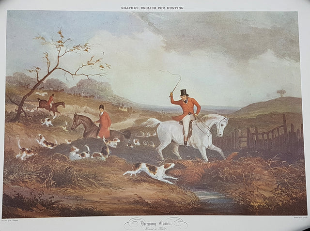 Fine Art English Fox Hunting Scene Print Home Decor Buy Online Red Scarf Equestrian Canada