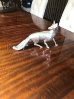Load image into Gallery viewer, Antique Silver Plate Cast Brass Fox