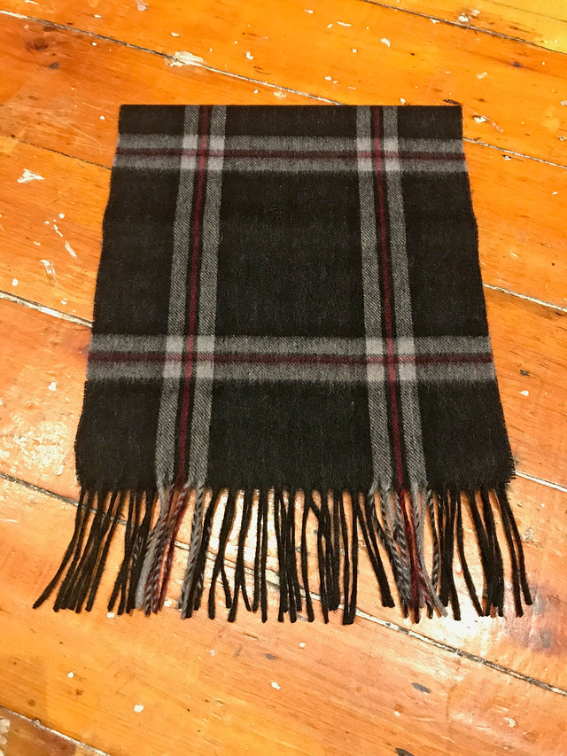 Tartan Lambswool Winter Scarf for Women Charcoal Thomson Buy in Canada at Red Scarf Equestrian